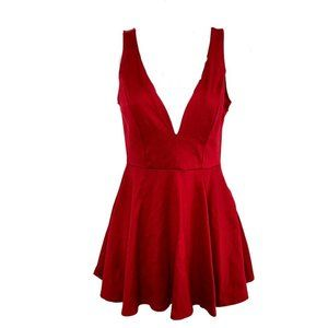 Lulu's I Feel Good Red Skort Dress Small